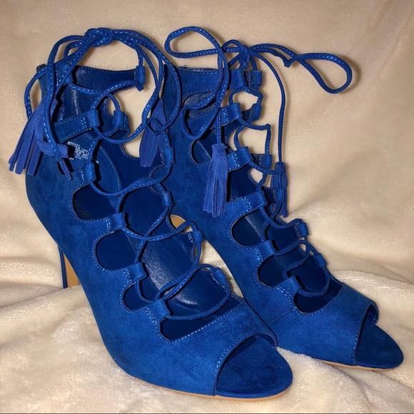 7c60b22c029 NWOB Nine West Briagd Cobalt Blue Lace Up Heels. M 5ab875aea6e3ea6fe3ecbde9